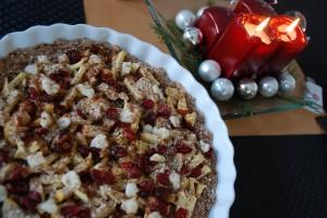 Weihnachtliche Frühstückspizza
