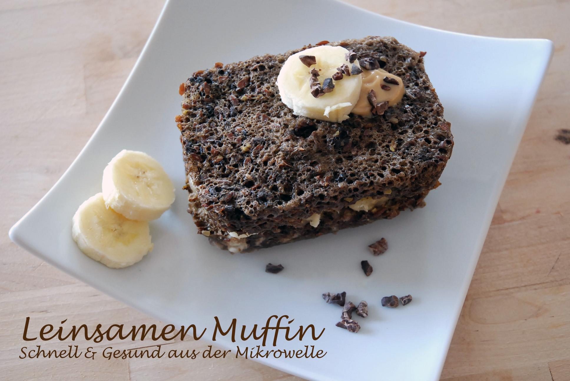 Leinsamen Muffin und Paleo / Flaxseed muffin and paleo