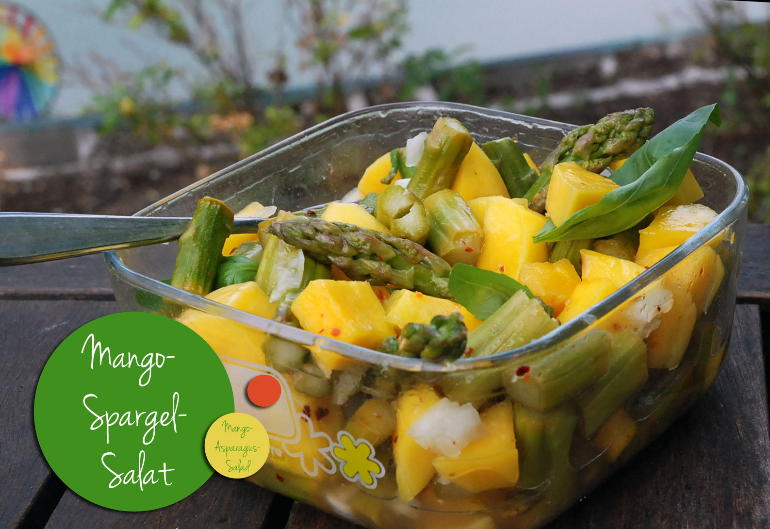 Mango Spargel Salat / Mango asparagus salad