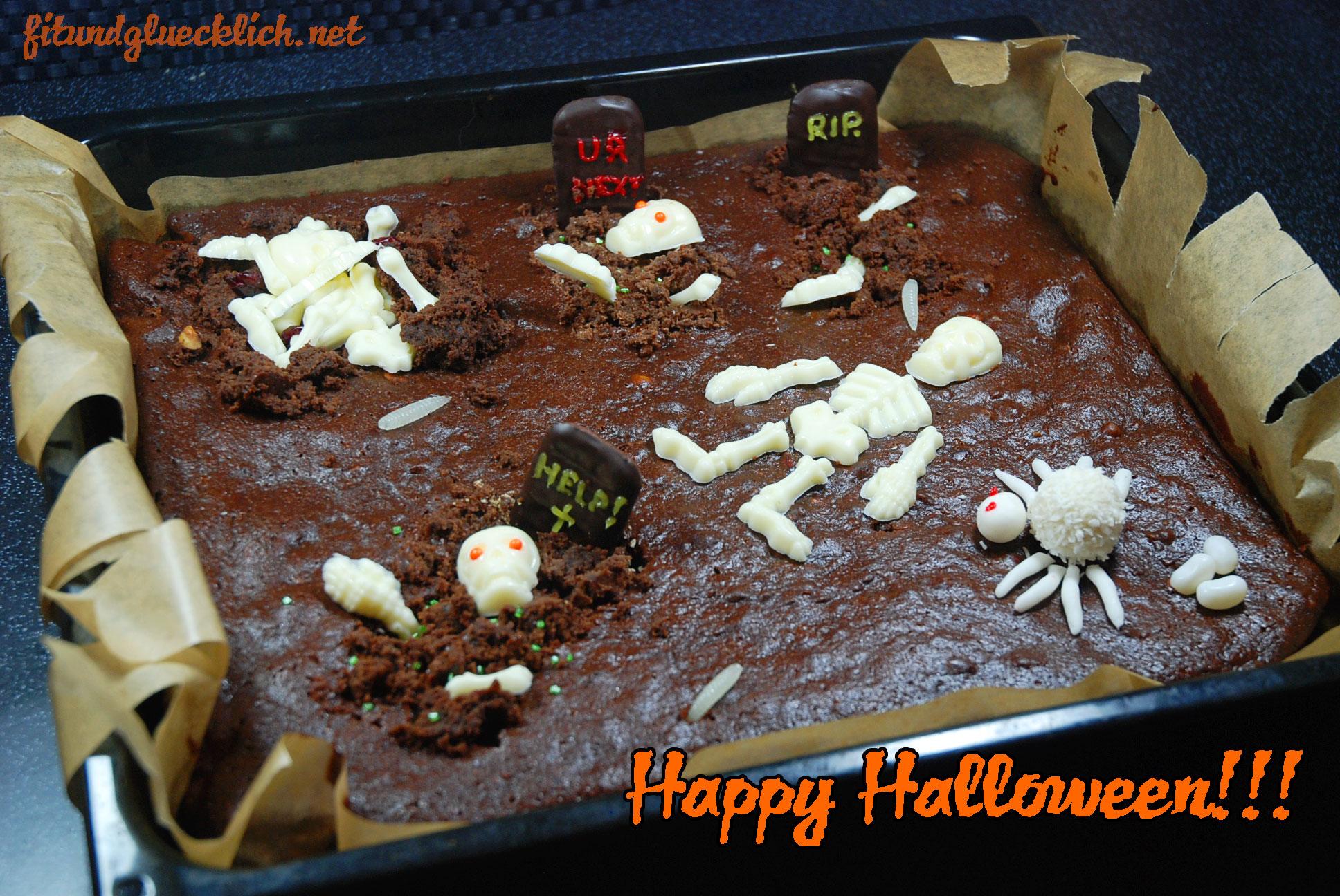 Friedhofs-Nutella-Brownies / Graveyard Nutella Brownies