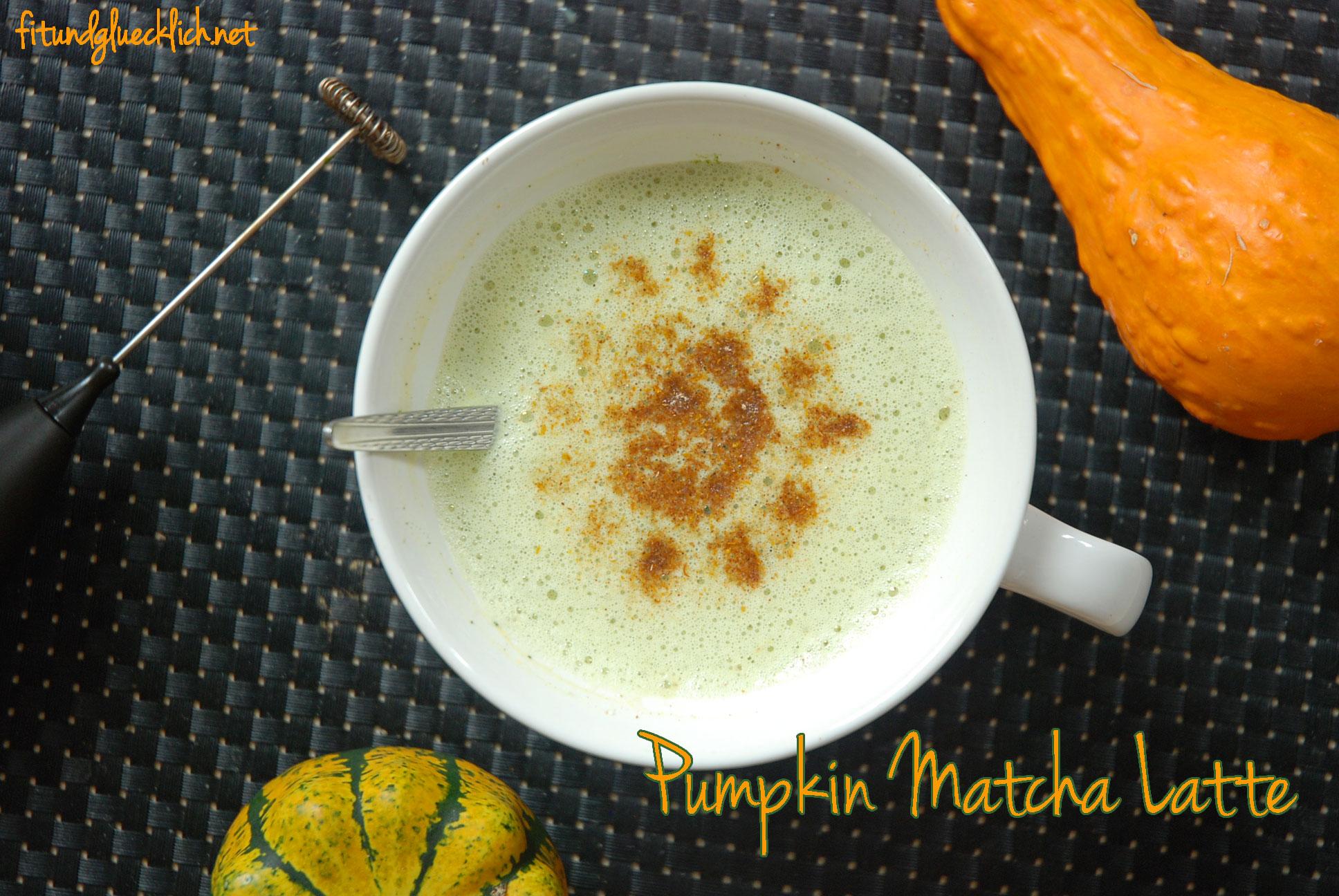 Kürbis-Matcha-Latte / Pumpkin Matcha Latte
