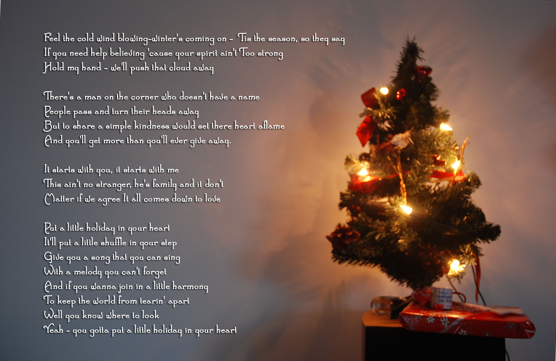 advent 23 weihnachtsgedicht christmas carol fit happy