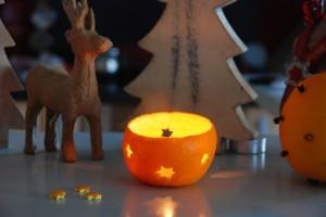 DIY Orangenwindlicht / DIY Orange lantern
