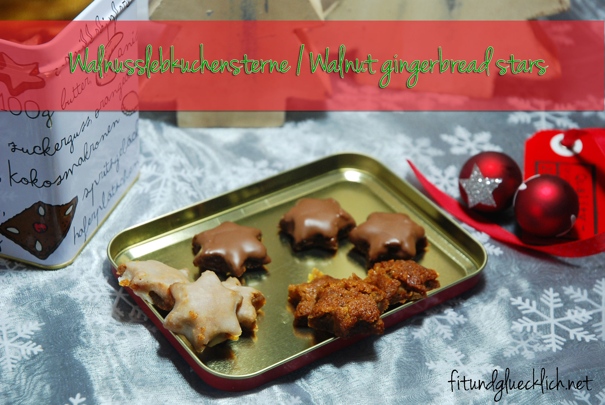 Walnuss-Lebkuchensterne / Walnut Gingerbread stars