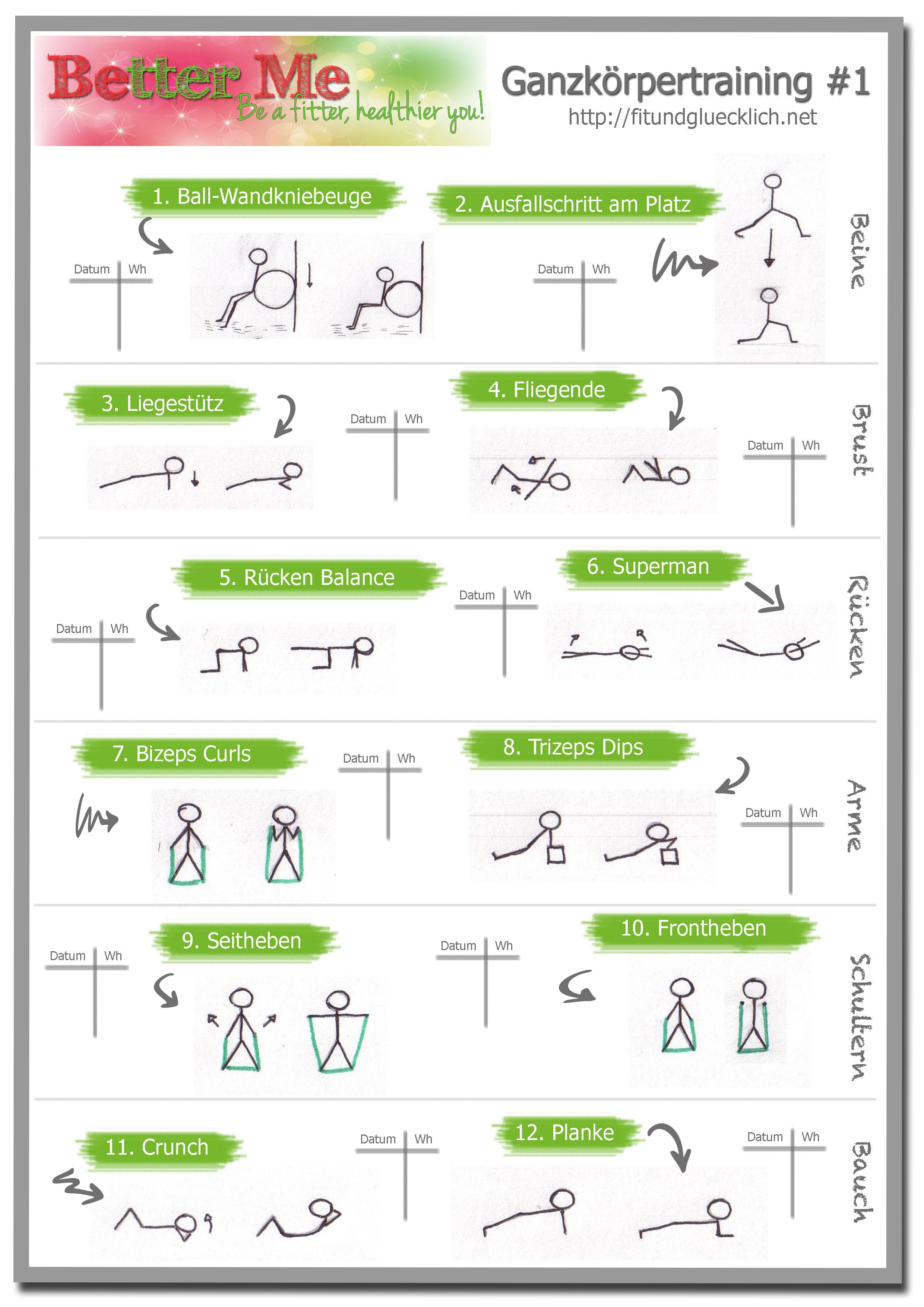 Workout Cheat Sheet