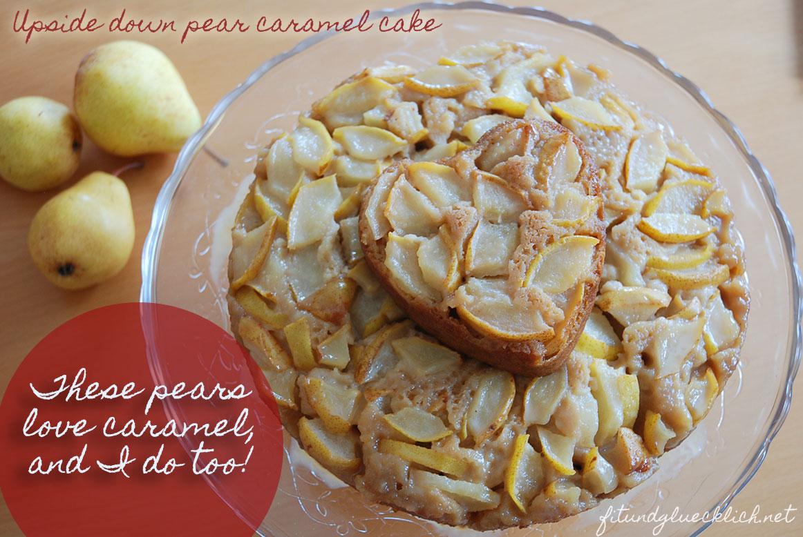 Verkehrter Birnen-Karamell-Kuchen / Upside down pear-caramel-cake