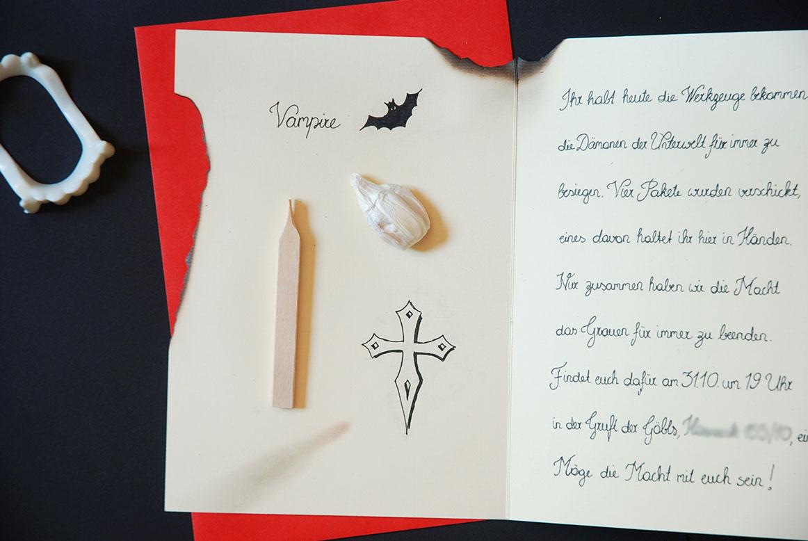 diy} halloween einladung / invitation - fit & happy, Einladung