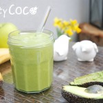 green smoothie, kokos, coconut