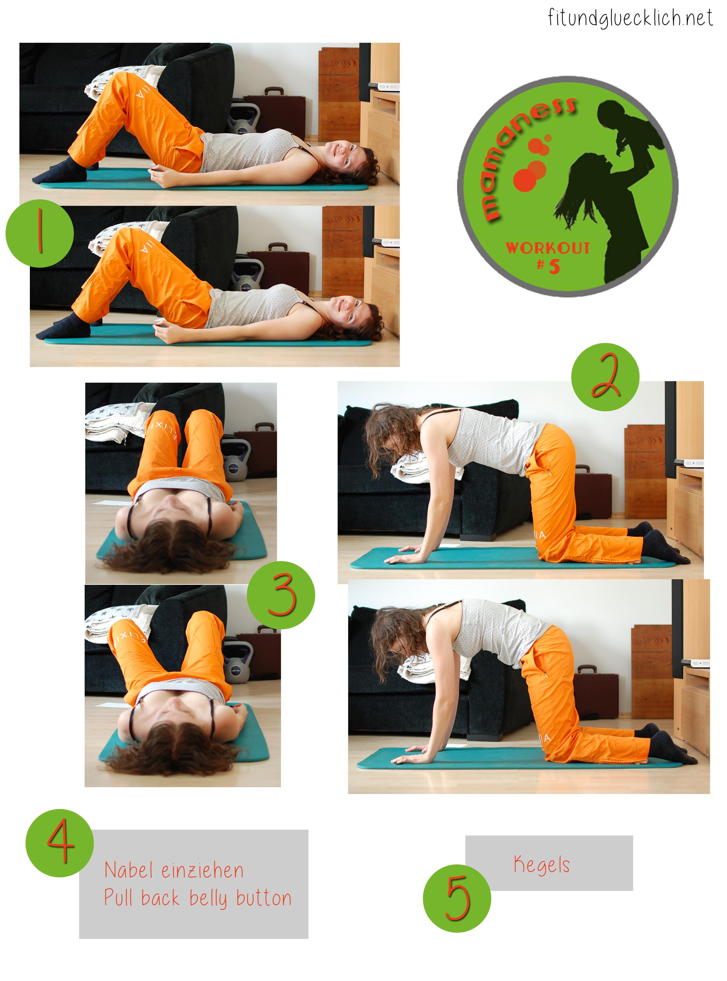 {Mamaness} Workout #5 Rektusdiastase / Diastasis recti - FIT & HAPPY