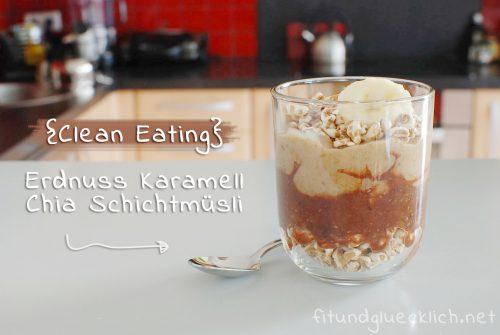 erdnuss, peanut, karamell, caramell, date, dattel, chia, schichtmüsli, pudding, 9qj86.w4yserver.at, clean eating