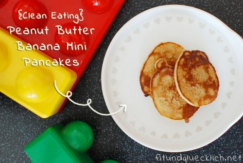 fitundgluecklich.net, peanut butter, banana, pancake, mini, blw, breifrei, clean eating