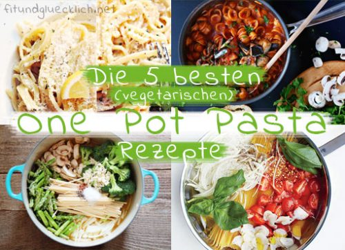 one pot pasta, vegetarisch, rezept