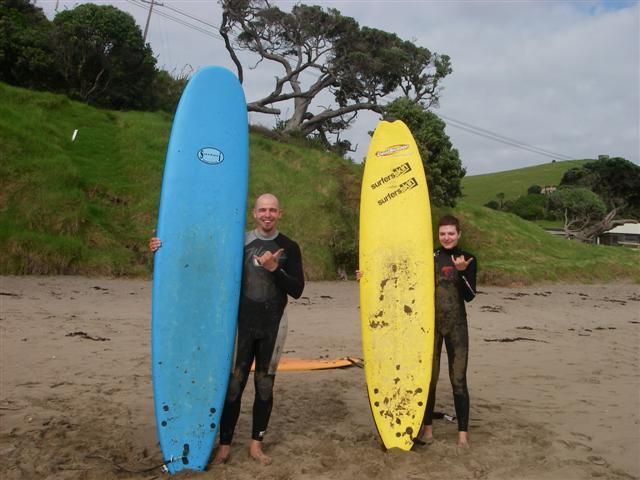 Ulli und Max surfen