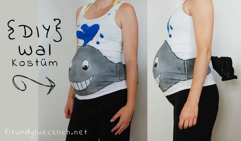 diy schwangerschaftskostüm Wal / whale baby bump costume