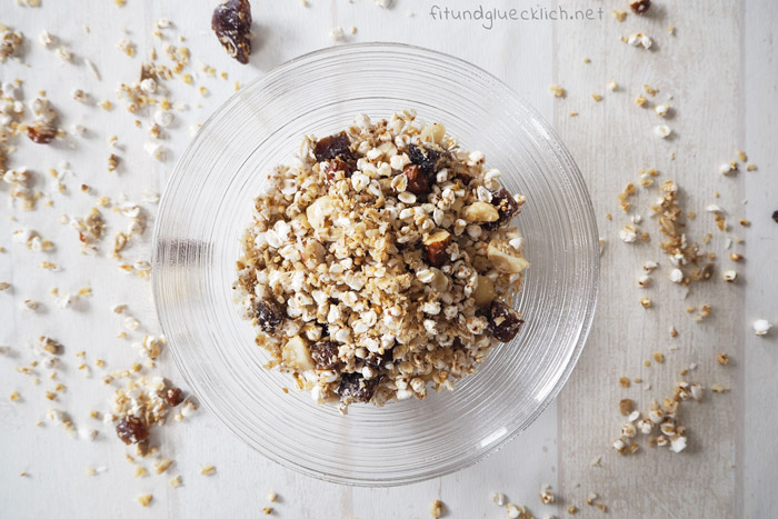 granola, zuckerfrei, clean eating, fitundgluecklich