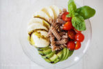 caprese salat, clean eating, sommer