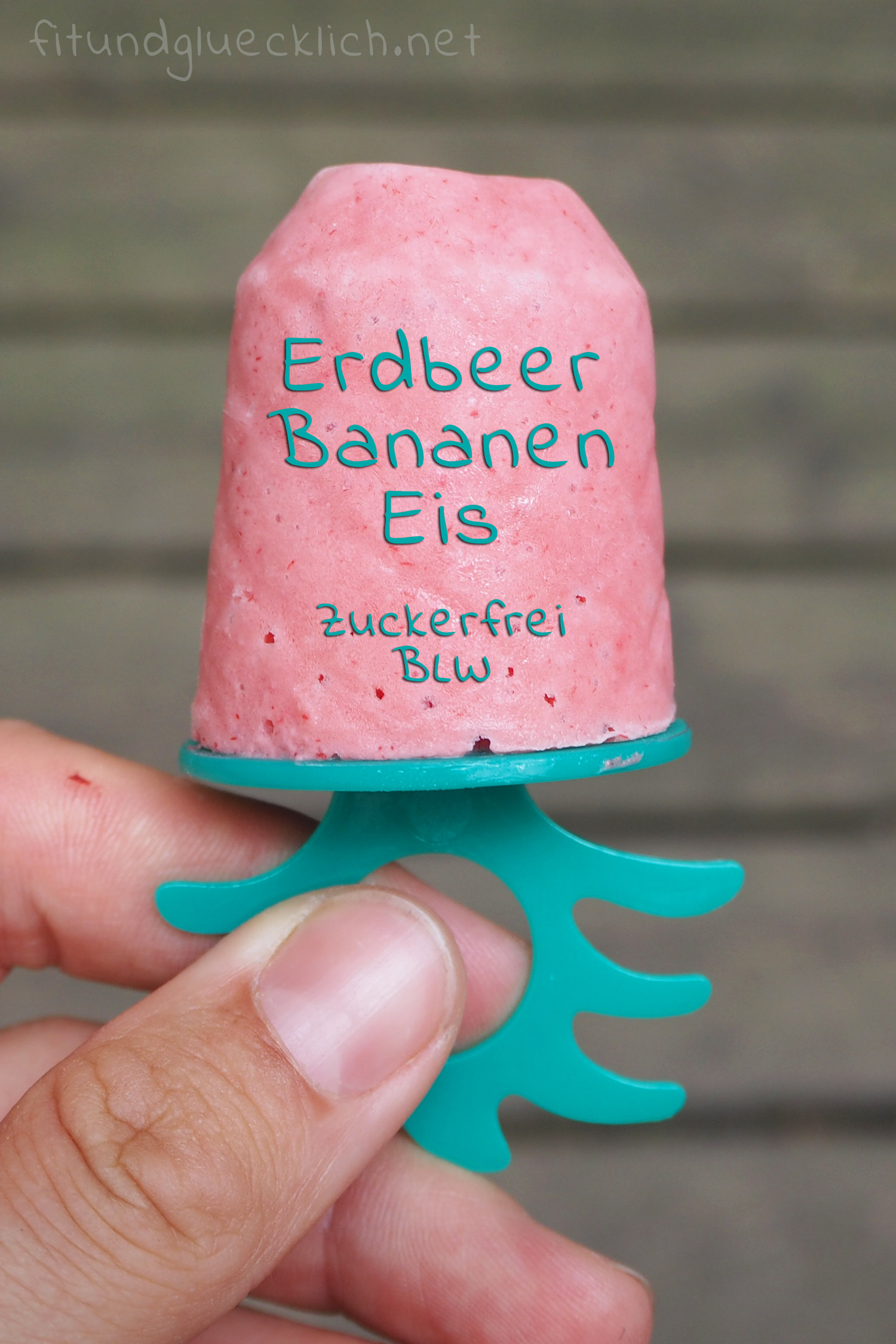eis, bananeneis, erdbeereis, diy, zuckerfrei, blw, clean eating