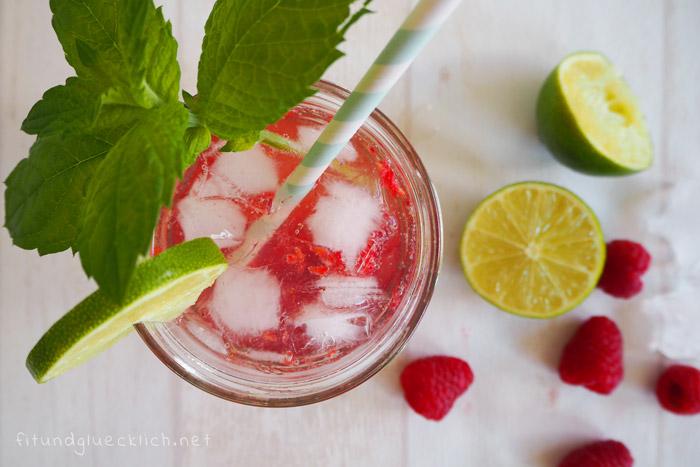 virgin himbeer mojito, alkoholfrei, stillfreundlich, schwangerschaft, cocktail