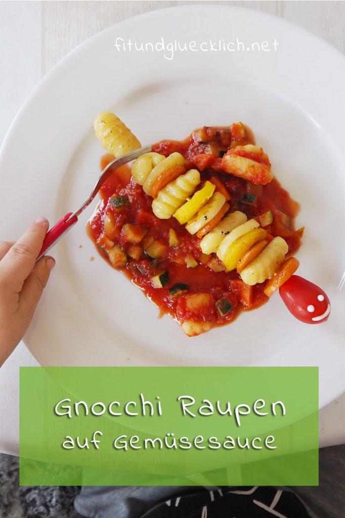 gnocchi raupen, kinderessen, clean eating, rezepte für kinder