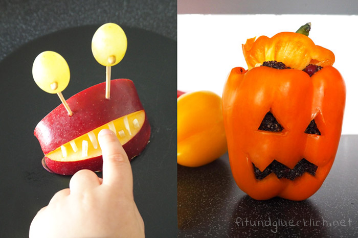 halloween, gesund, snack, monster, Kinder