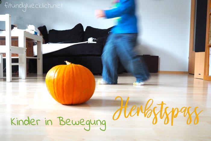 Kinder in Bewegung, Herbst, kürbis