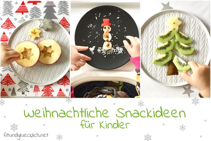 Obstsnack, weihnachten, kindersnack, obst, Weihnachtssnack