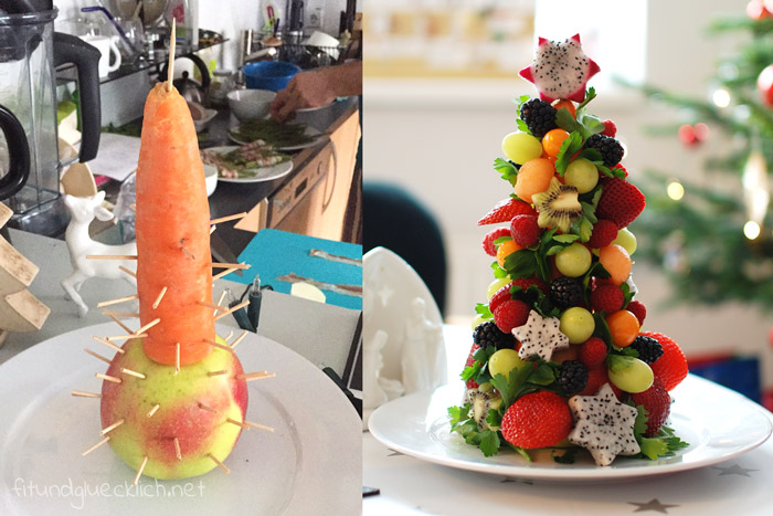 Obst,obstweihnachtsbaum, Weihnachtsbaum, gesunde weihnachten, Obstbaum, obstchristbaum