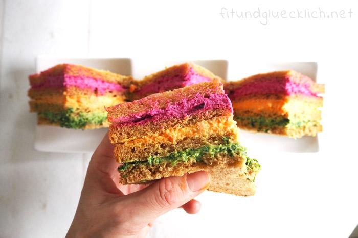 regenbogen sandwiches