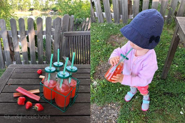 Erdbeer-Rhabarber-Limonade