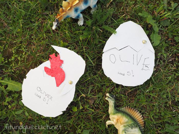 Einladung zum Kindergeburtstag - Dinosaurier