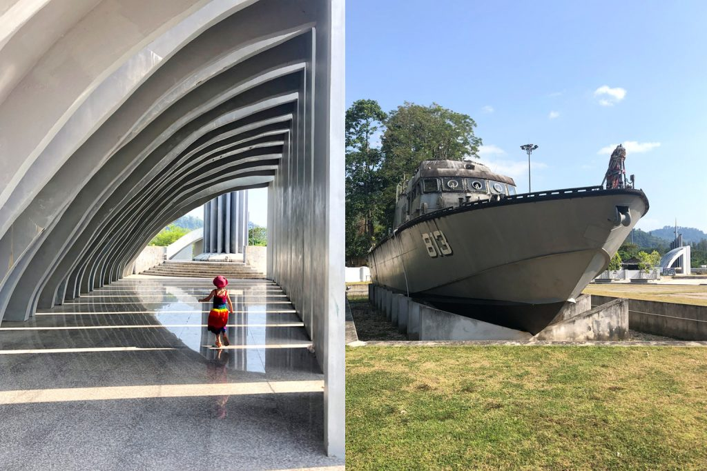 Tsunami Memorial und Polizeiboot, Khao Lak, Thailand