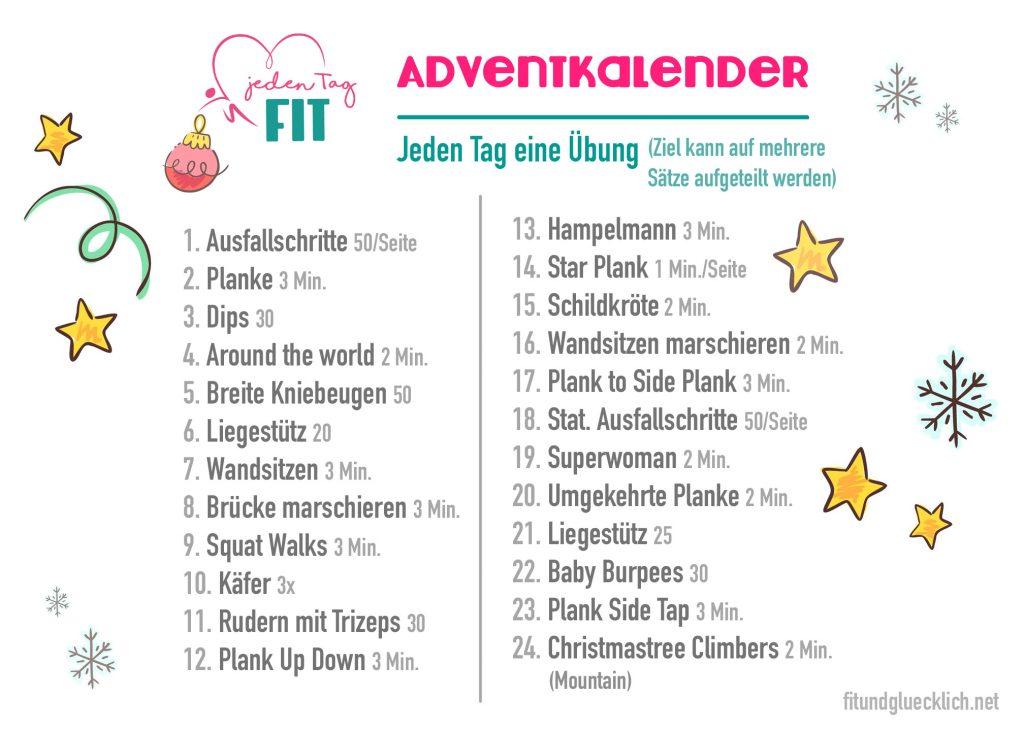 Fitness Adventkalender