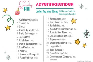 Fitness Adventkalender