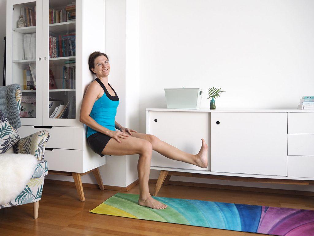 Home Workout Wandsitzen