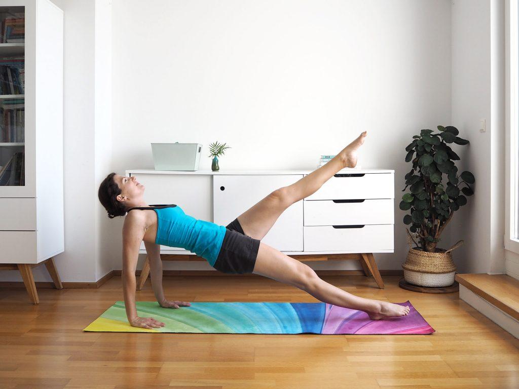 Home Workout Umgekehrte Planke